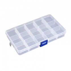 Plastic box with dividers